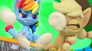 Stop Motion Shorts - Volleyball Game Between Rainbow Dash and Applejack