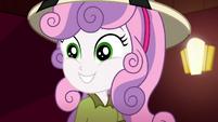 Sweetie Belle wearing a triumphant grin SS11