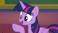 Twilight Sparkle -that's a great idea!- S8E17