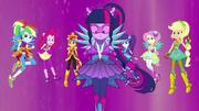 Equestria Girls in their Crystal Guardian forms EG4