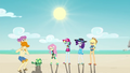 Fluttershy and friends watch Tank as time passes EGDS14.png
