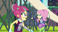Fluttershy giving the thumbs up to AJ EG3