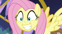 Fluttershy with an overexcited grin S7E20