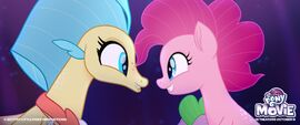 MLP The Movie Pinkie Pie and Princess Skystar promo image