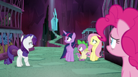 Main ponies hear Tirek calling out S8E26