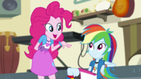 "Pinkie Pie ""I liked yours, Rainbow Dash"" EGS1"