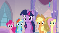 Ponies walking towards Princess Cadance S3E12
