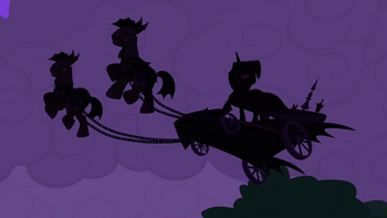 Princess Luna on the chariot
