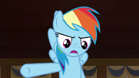 "Rainbow Dash ""she had to get the crown back"" S7E18"