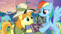Rainbow returns the Daring Do first edition S4E22.png