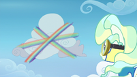 Rainbow spirals around a cloud at high speed S6E24