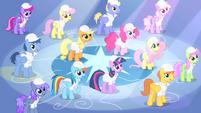 Rarity shining down on ponies S1E16