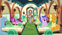 Spike, CMC, and the pets board the train S03E11