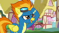 Spitfire greeting Rainbow Dash S6E7