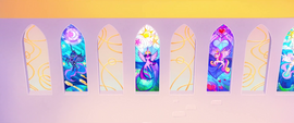 Stained glass windows of the Alicorn princesses MLPTM