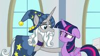 Star Swirl putting a hoof on Twilight S8E16