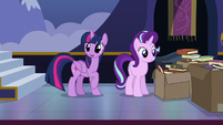 Twilight Sparkle calling out to Spike S6E25