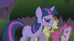 Twilight glaring at the manticore S1E02
