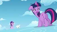 Twilight hears filly Rainbow Dash S5E26