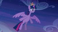 Twilight notices Princess Celestia is hit S4E2