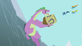 Wonderbolts flying into Spike's water tower S2E10.png
