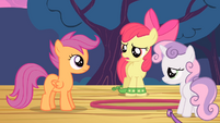 Apple Bloom and Sweetie Belle tired S4E05
