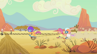 CMC riding through the desert S4E05