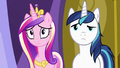 Cadance and Shining Armor listening to Twilight S7E3.png
