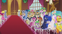 Crowd of wedding guests right side S5E9
