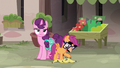 Disguised Scootaloo offers to help Sugar Belle S7E8.png
