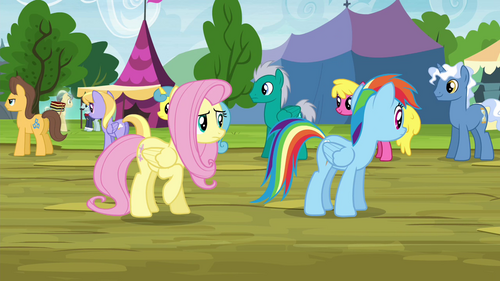 Fluttershy and RD looking for Stellar Eclipse S4E22
