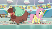 Fluttershy and Yona turning around S9E7