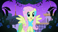 Fluttershy happy in the gardens S1E26