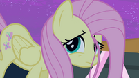 Fluttershy listening Rarity S4E14