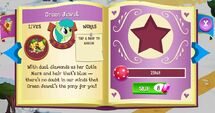 Green Jewel album page MLP mobile game