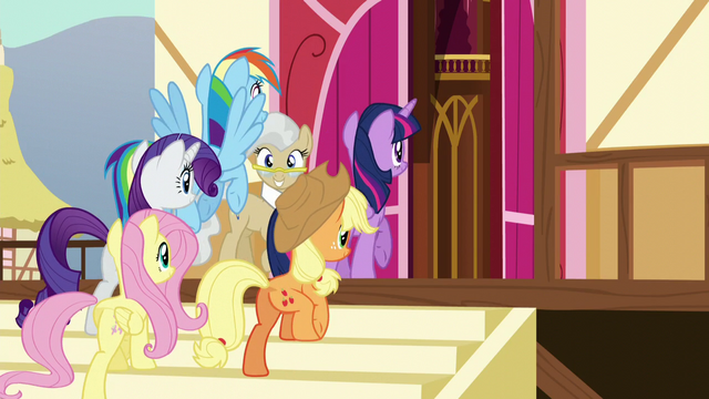 File:Main five walking past Mayor Mare S5E19.png