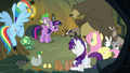 Main ponies no Pinkie with animals S3E3.png