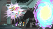 Mane Six, Pillars, and struggling Pony of Shadows S7E26