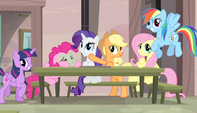 Mane Six putting on act for watching ponies S5E1