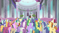 Neighsay addressing the students S8E26