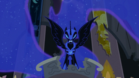 Nightmare Moon glaring at Twilight S4E2