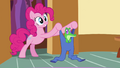 Pinkie Pie puts Gummy in riding pants S03E11.png