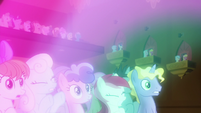 Ponies blown away by magical sound S9E20