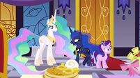 Princess Luna pushing Starlight out of the way S7E10