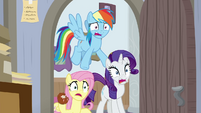 RD, Fluttershy, and Rarity shocked to see AJ BGES3