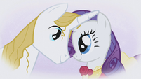 "Rarity and Blueblood ""our eyes would meet"" S1E03"