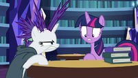 Rest of Rarity's mane wildly sticking out S7E19