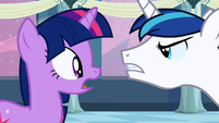 Shining Armor angry with Twilight S2E25