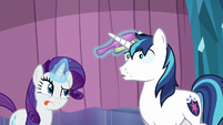 Shining Armor takes calming breaths S6E1