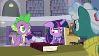 "Spike ""we have an overdue book"" S9E5"